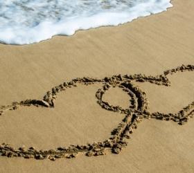 Na areia ou no coração?